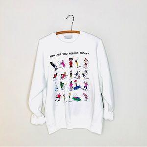 Vintage Retro Mood Graphic Sweatshirt Qween